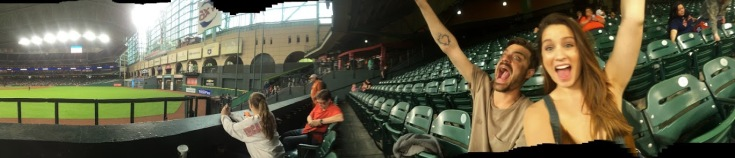 Astros game (Alex's first baseball game) in Houston, Texas